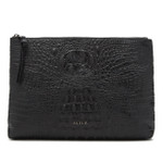 JULIO CROC-EFFECT LEATHER CLUTCH (SOLD OUT)