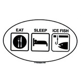 Decal - Eat, Sleep, Ice Fish