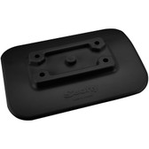 Scotty 341-BK Glue On Mount Pad For Inflatable Boats - Black