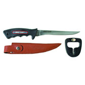 "Eagle Claw 6"" Safe Grip Handle Fillet Knife with Sheath & Sharpener"