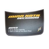 Minn Kota Trolling Motor Part - DECAL-COVER, TOP DH40 - 2375505