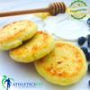 Low fat Cottage cheese slider (Syrniki) with Organic local Fruits, Greek yogurt and Bonne Maman Raspberry Preserves