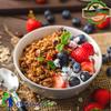 Low fat Greek yogurt with Organic Berries and Honey Granola.