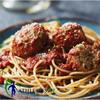Tasty Lean Turkey meatballs with Whole grain spaghetti past and Low sodium tomato sauce
