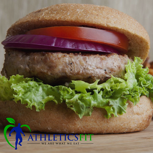 Lean Turkey Burger / Sweet Potato salad and AthleticsFit Salsa