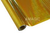 AMagic Textile Foil - G0K219 Holographic Weave Pattern Gold
