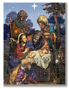 Pack of 12 - Three Wise Men Nativity Season Christmas Advent Calendar