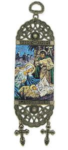 Nativity Scene of Jesus Christ Tapestry Christmas Icon