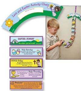 Count Down the Days from Lent to Easter Daily Activity Chain Kids Arts & Crafts Kit