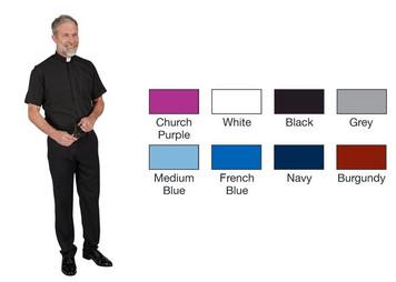 R.J. Toomey Mens Summer Comfort Short Sleeve Clergy Shirt