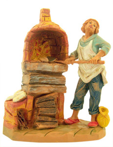 Fontanini Nativity Collection Bakery with Darius Figurine, 3 1/2 Inch