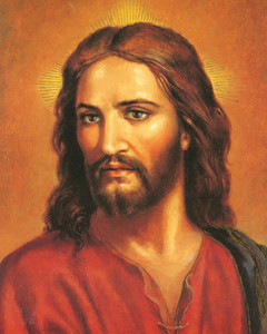 Head of Jesus Christ of Nazareth Cardstock Print, 10 Inch, Pack of 20