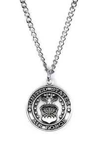 Sterling Silver Saint Michael Protect Me Military Medal, 3/4 Inch (US Air Force)