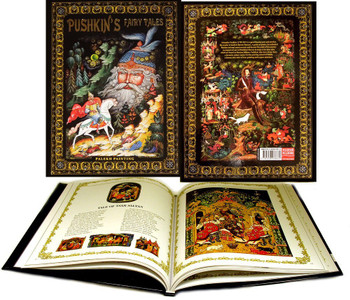 Russian Pushkin's Fairy Tales Palekh Painting Hardcover Book Brand New!