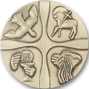 Antique Gold Christian Life Visor Clip