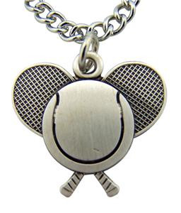 """Jesus Christ Protect This Athlete 13/16"""" Sterling Silver Medal Tennis Pendant"""