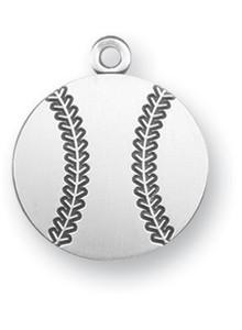 Sterling Silver Christ Baseball Athlete Medal