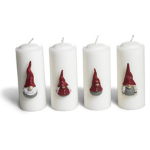 High Hat Santa/Tomte Candle Decorations from Naasgransgarden in Sweden.