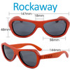 Rockaway Butterfly Red Rosewood Wood Sunglasses Dimensions Size