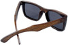 Cloudbreak Polarized Square Brown Bamboo Wood Sunglasses Back