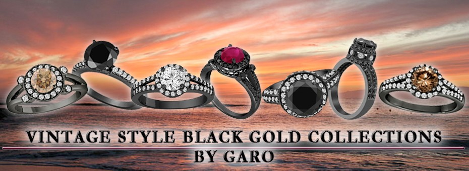 Vintage Style Black Gold Collections