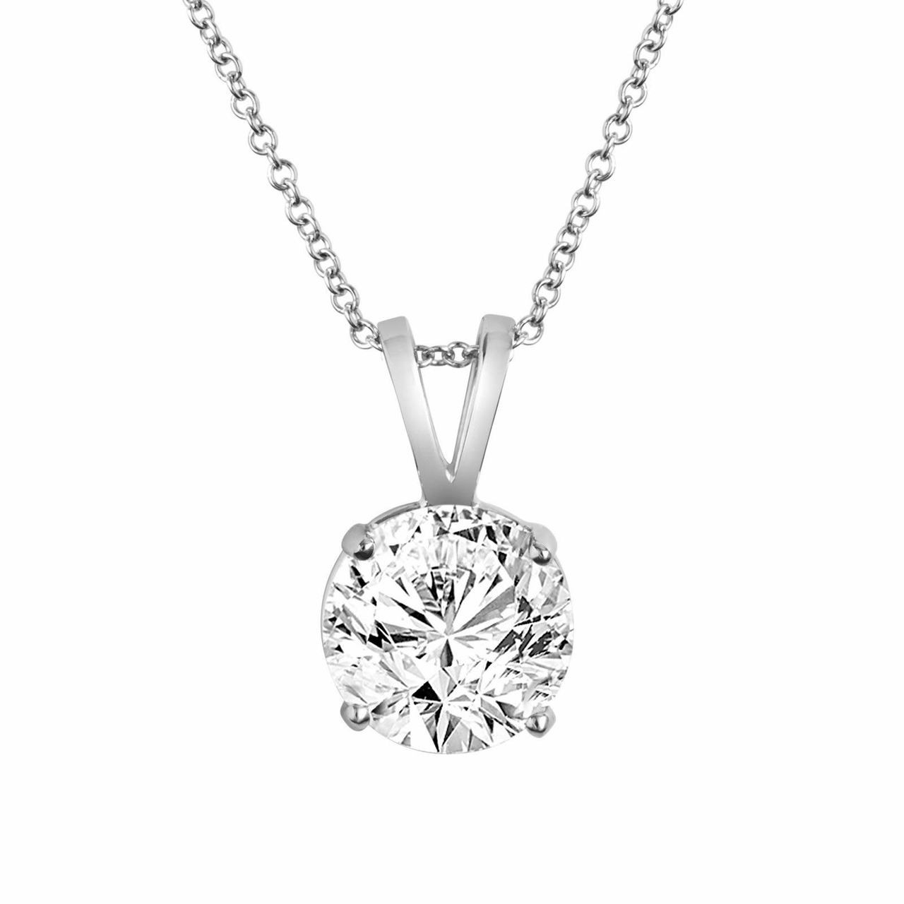 cttw i solitaire necklace pendant solitare emerald products cut gold diamond h yellow