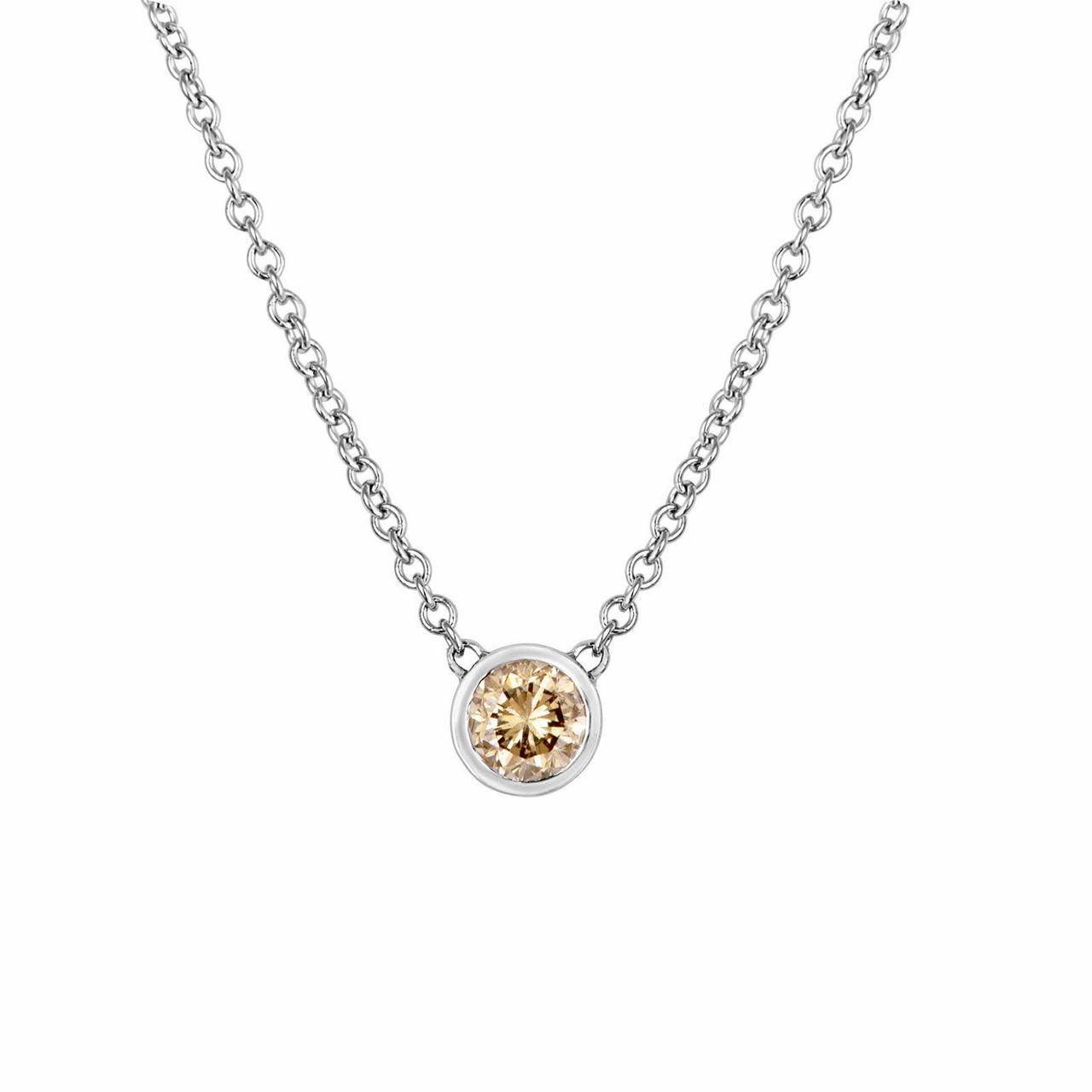 Bezel Diamond Necklace By The Yard