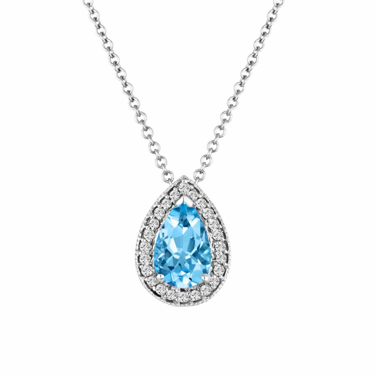 Carat Pear Shaped Diamond Pendant