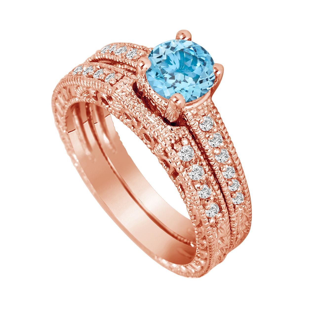 Topaz Wedding Ring Sets
