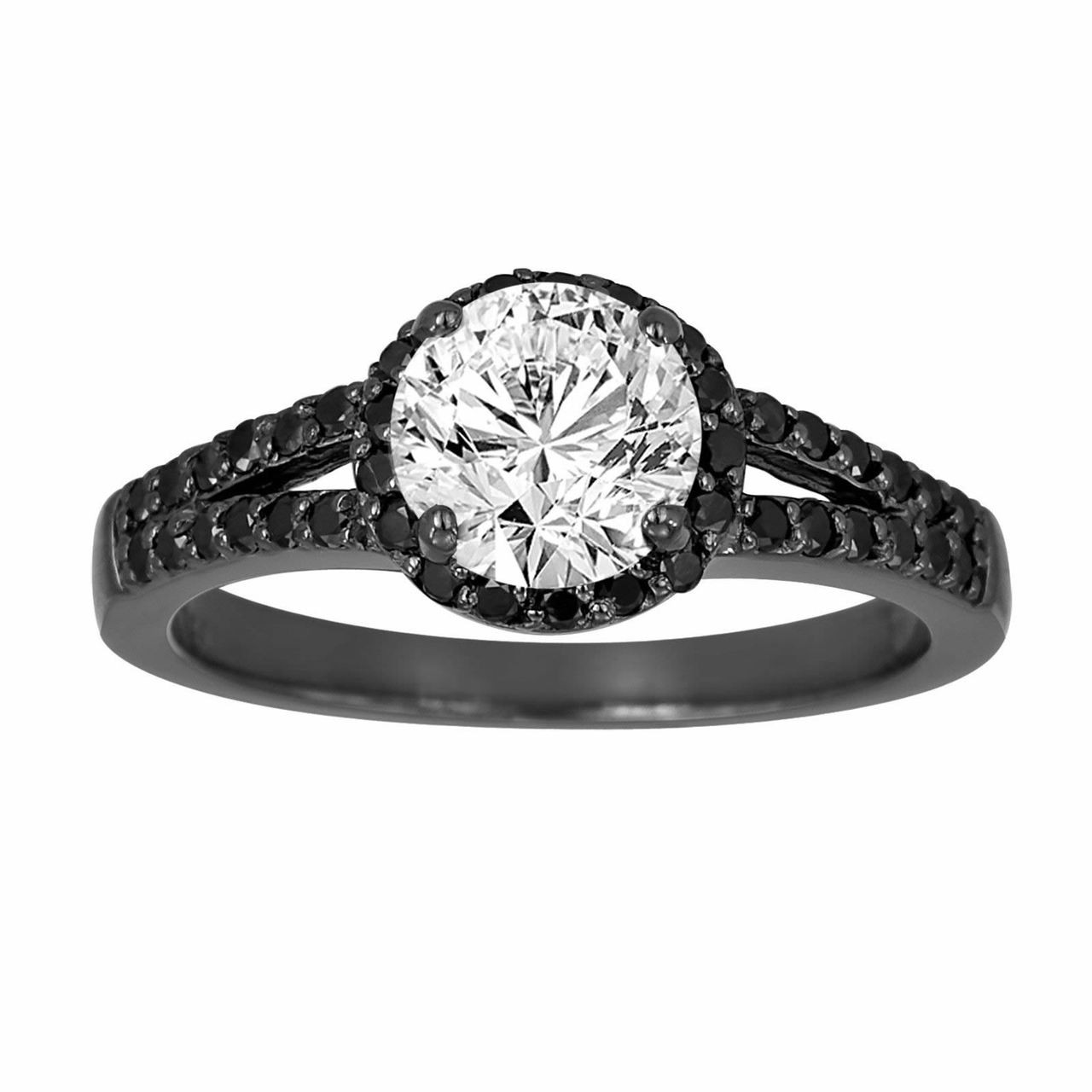 gold rings ring ladies wg promise engagement flower cut round itm diamond dia a fancy
