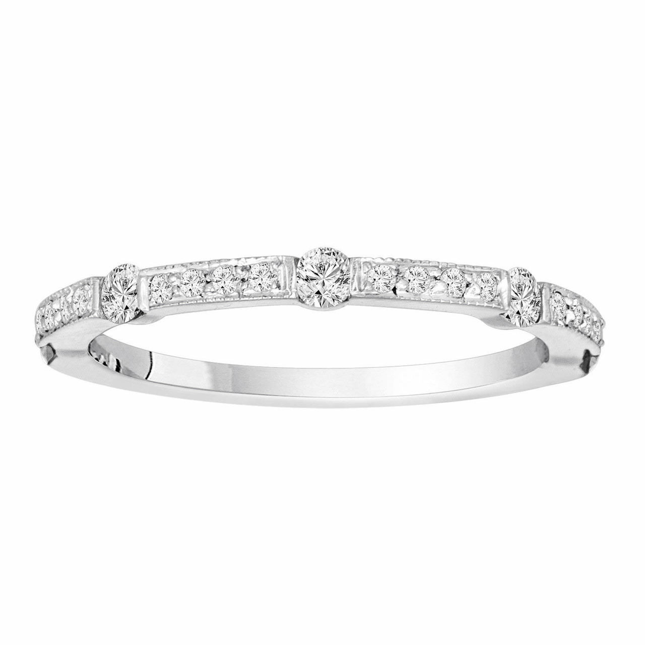 Platinum Diamond Wedding Band 0.40 Carat Half Eternity