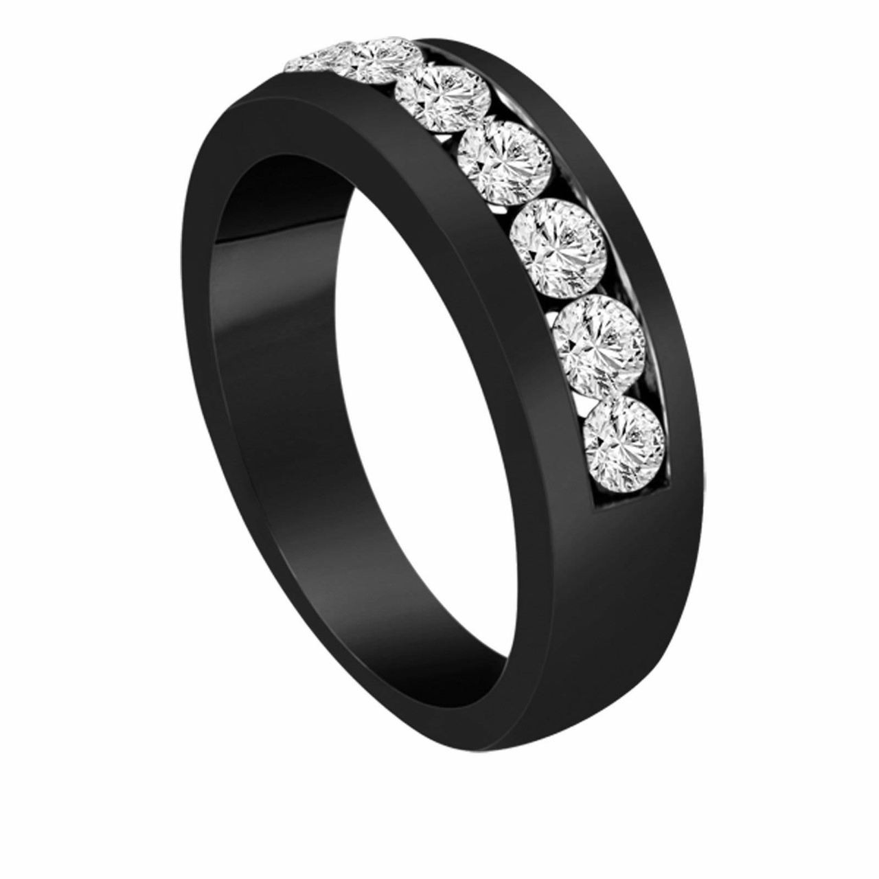 Diamond Wedding Bands Unisex