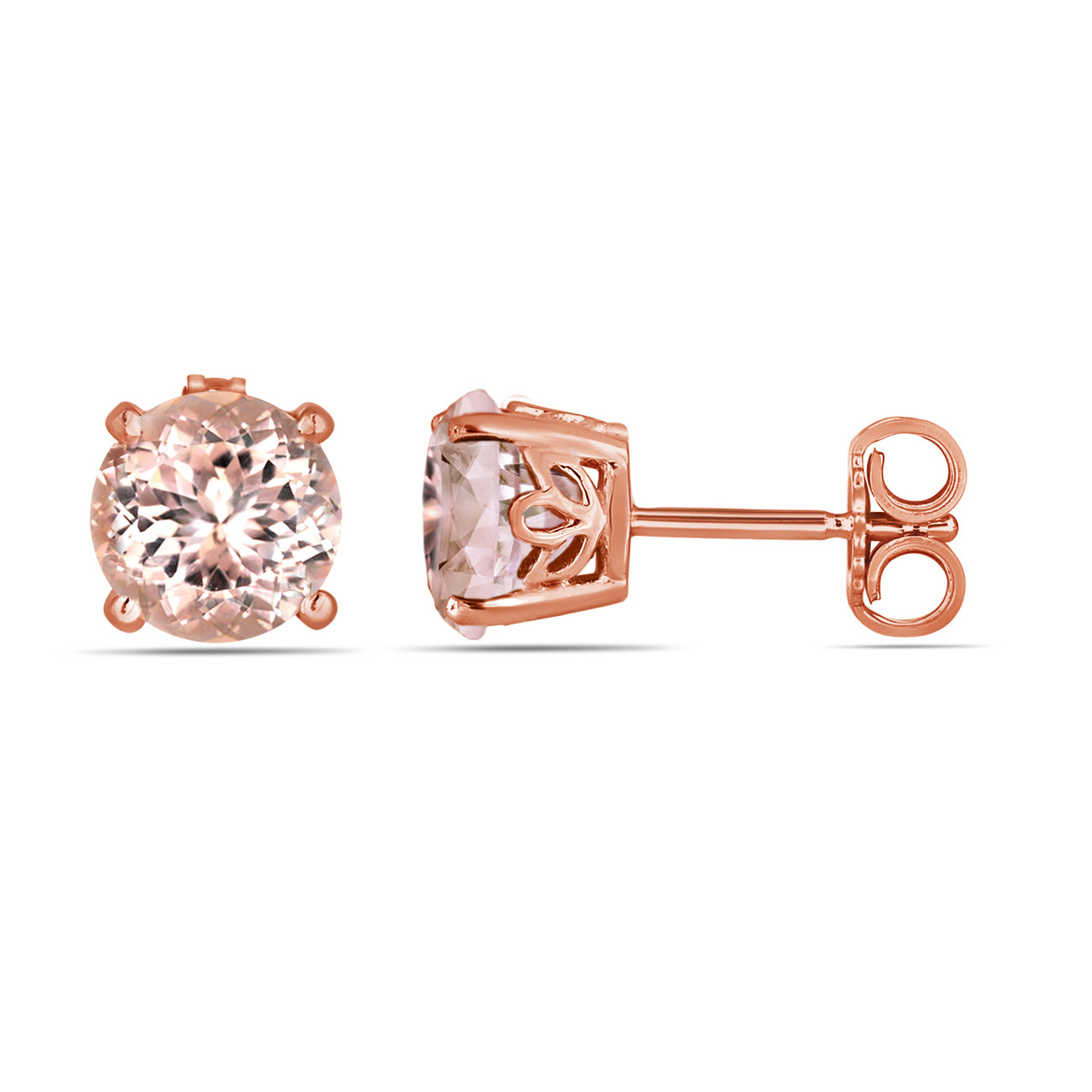stone a pointe and morganite stud products back small strand