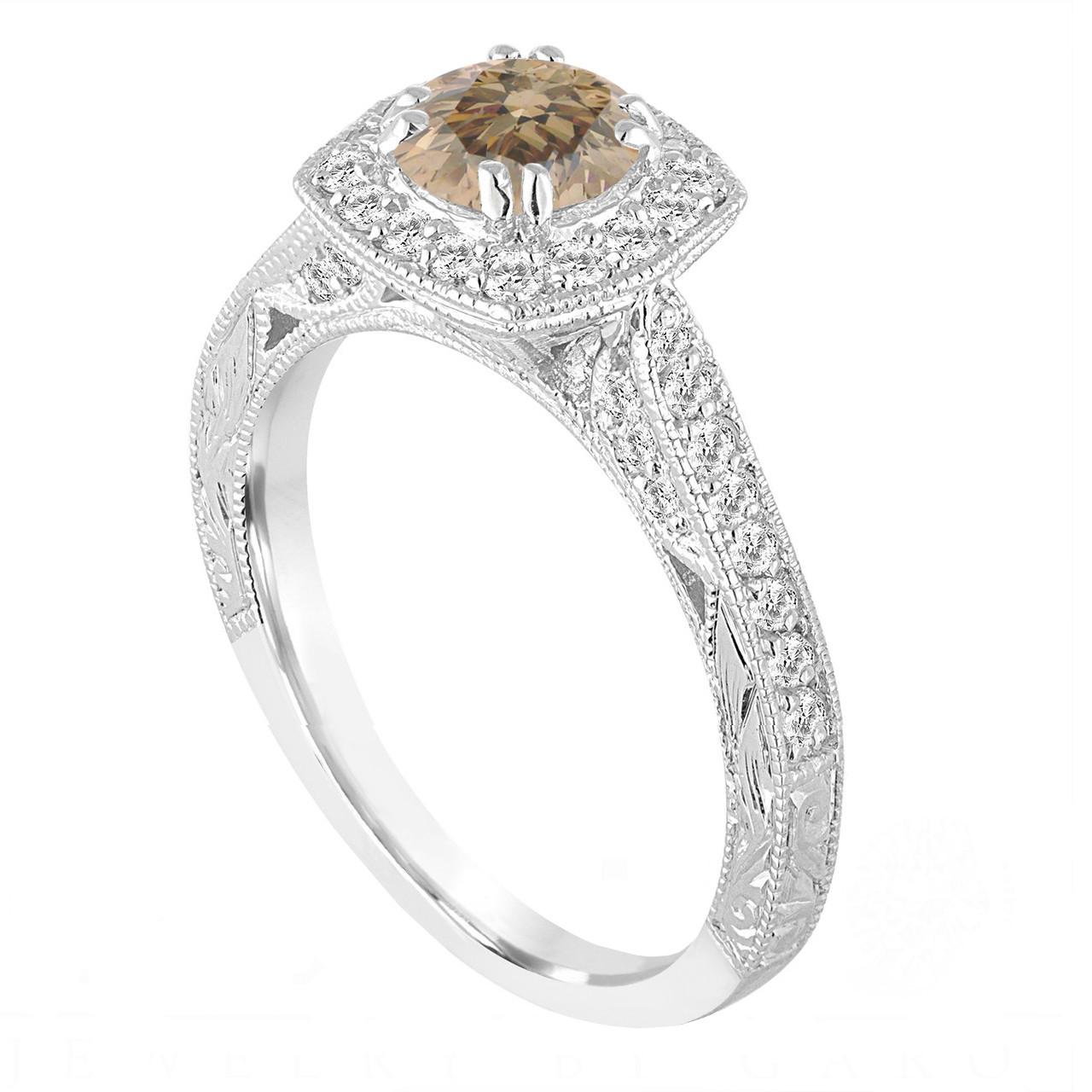 Carat Diamond Halo Ring