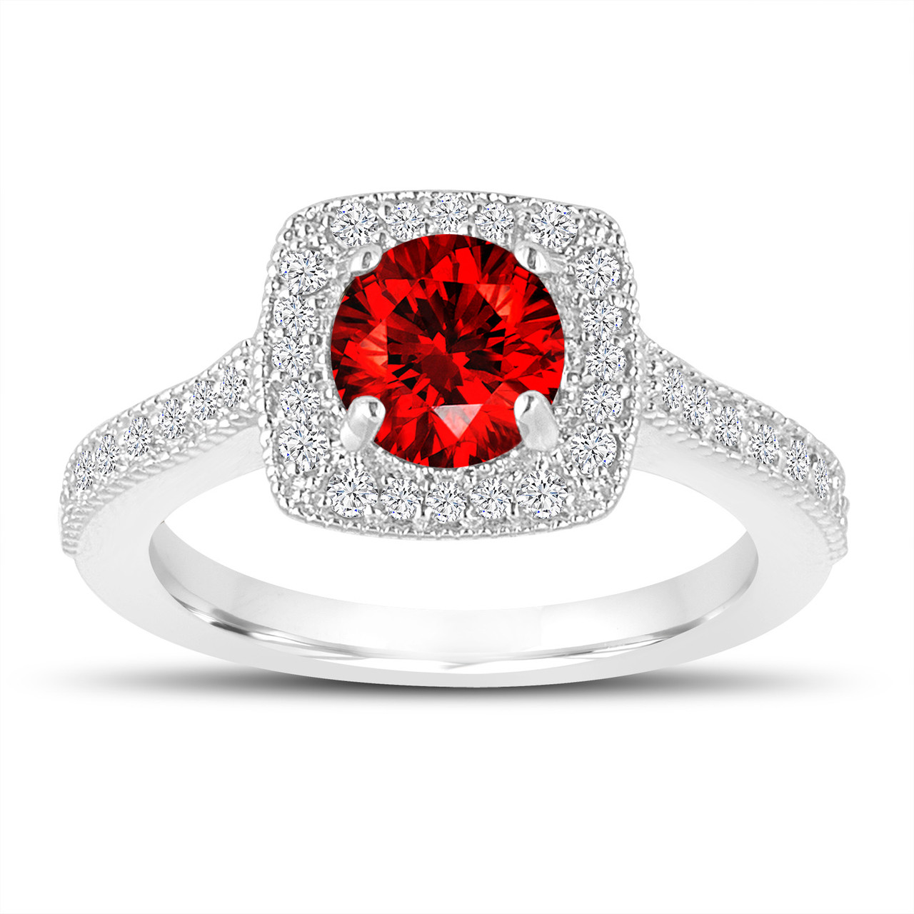 1.28 Carat Fancy Red Diamond Engagement Ring, Wedding Ring