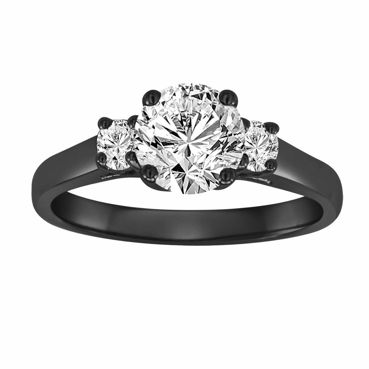 micro ring rings pave round a stone engagement jewellery three side with pav