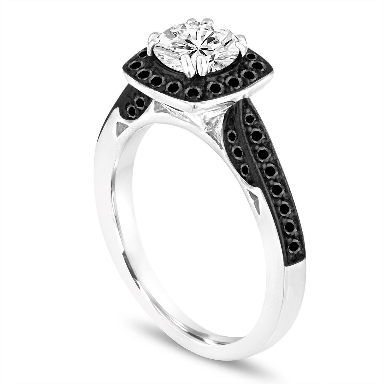 Gia Certified Diamond Engagement Ring Black Diamond