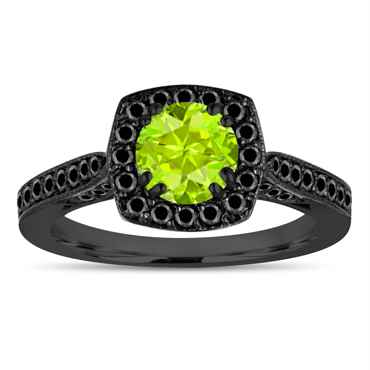 company engagement diamond peridot rings product cocktail platinum ring and view jeffrey