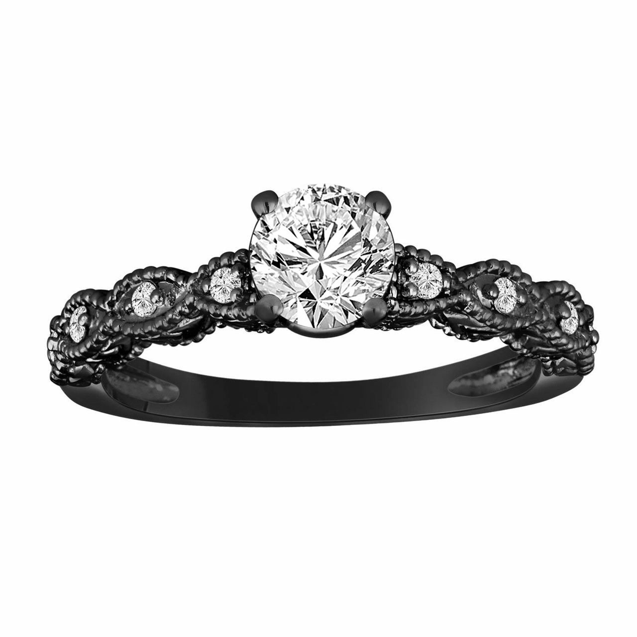Gia Certified Diamond Engagement Ring Vintage Style