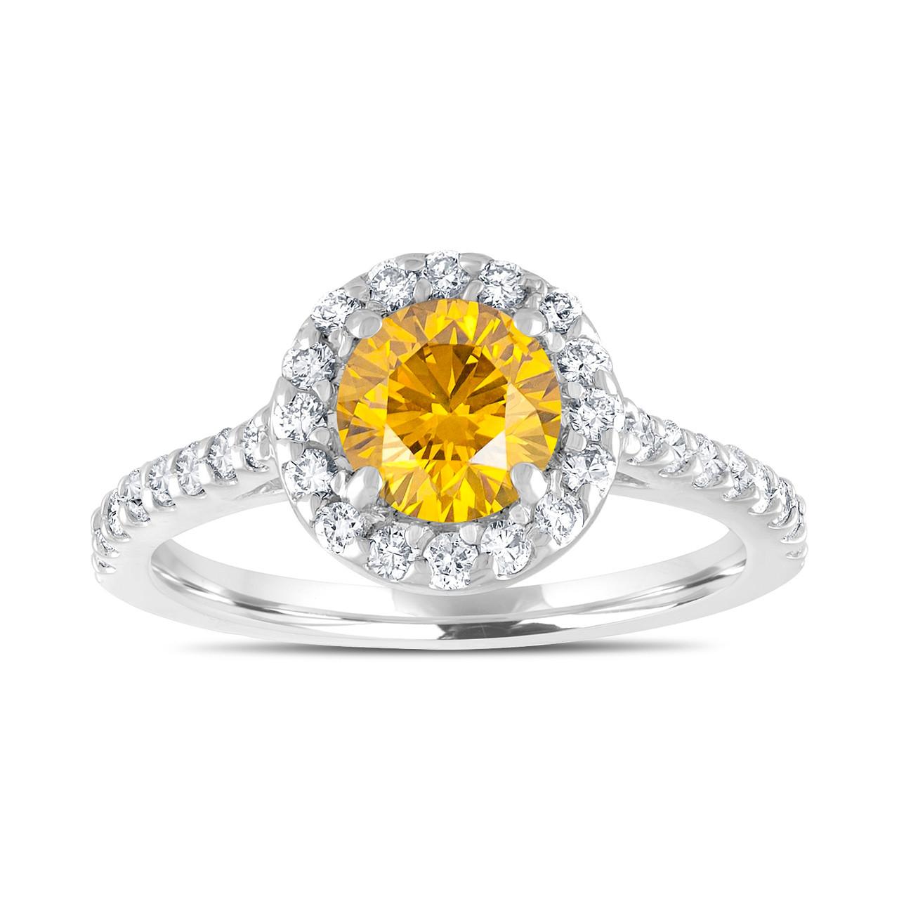 fancy yellow diamond engagement ring canary yellow bridal