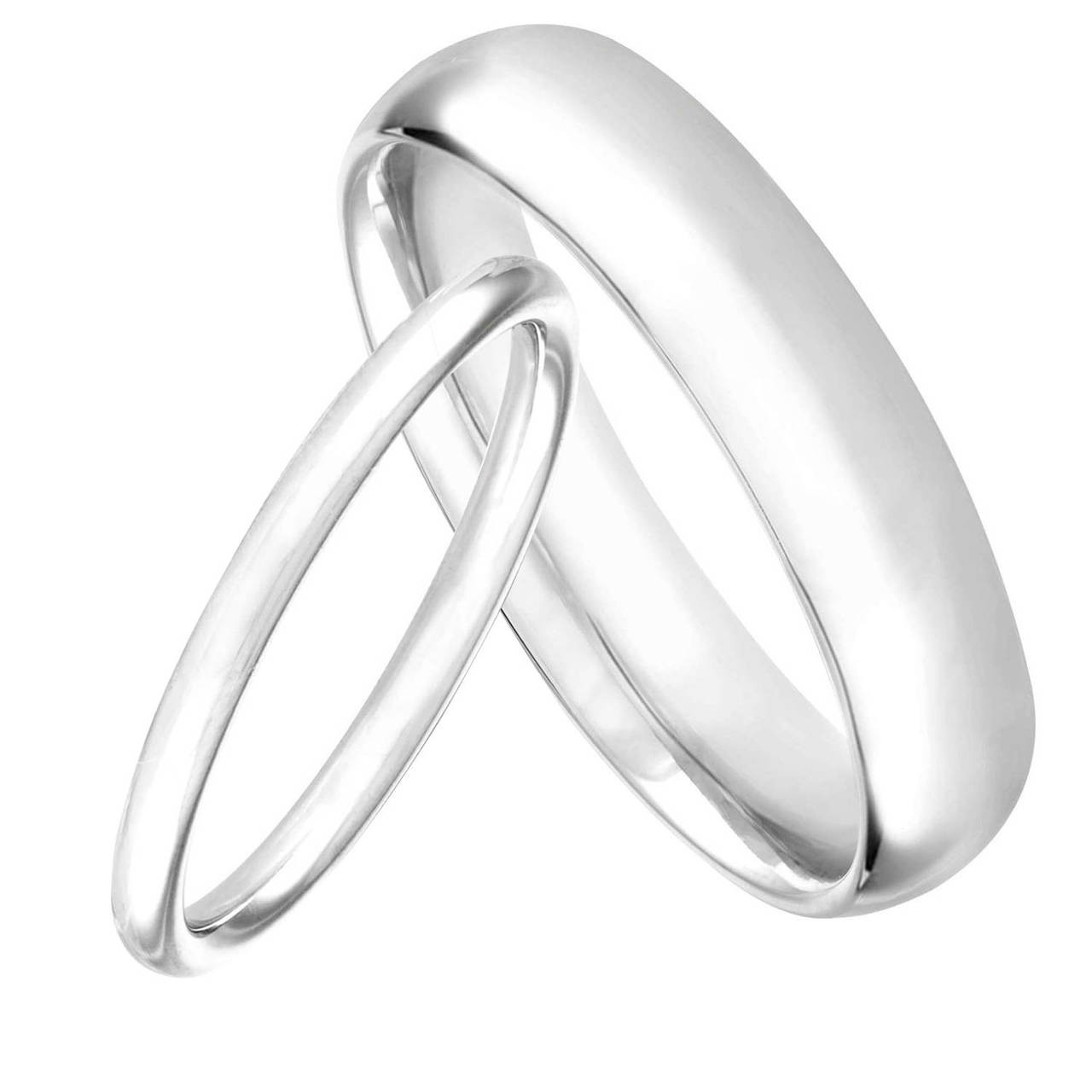 platinum his and hers wedding bands matching wedding rings couple