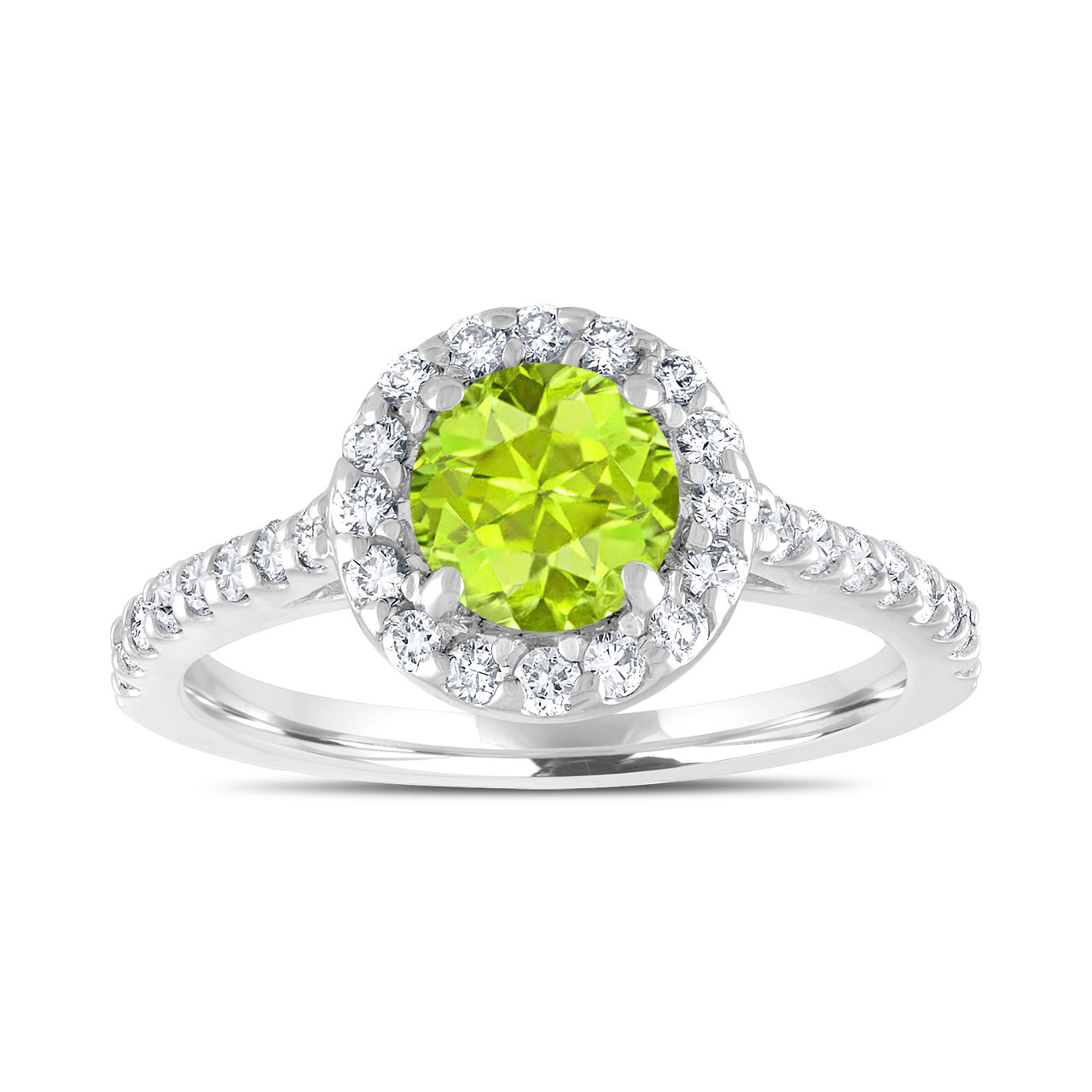 carat peridot engagement ring with diamonds bridal. Black Bedroom Furniture Sets. Home Design Ideas