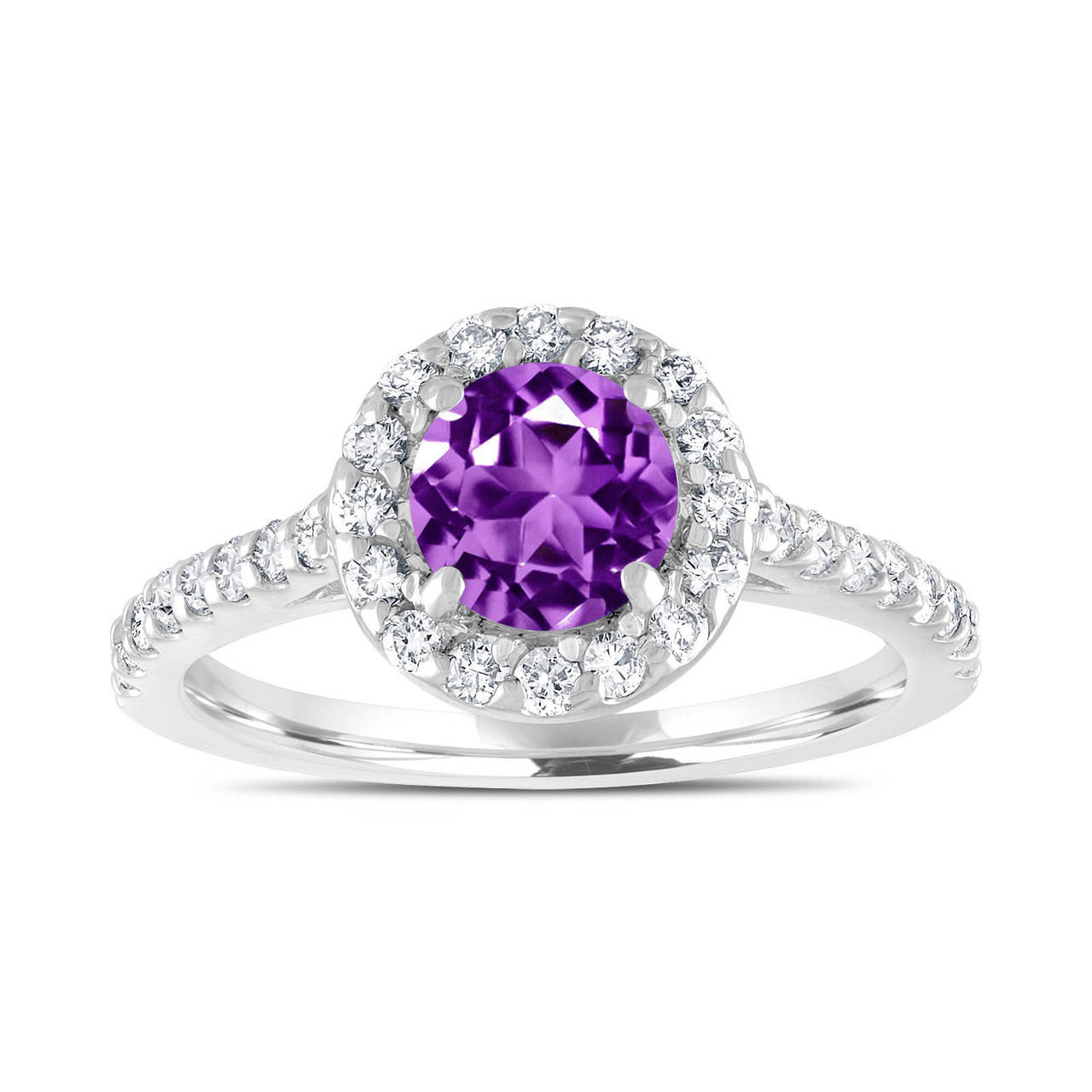amethyst wedding rings amethyst engagement ring with diamonds bridal ring 1 54 1295
