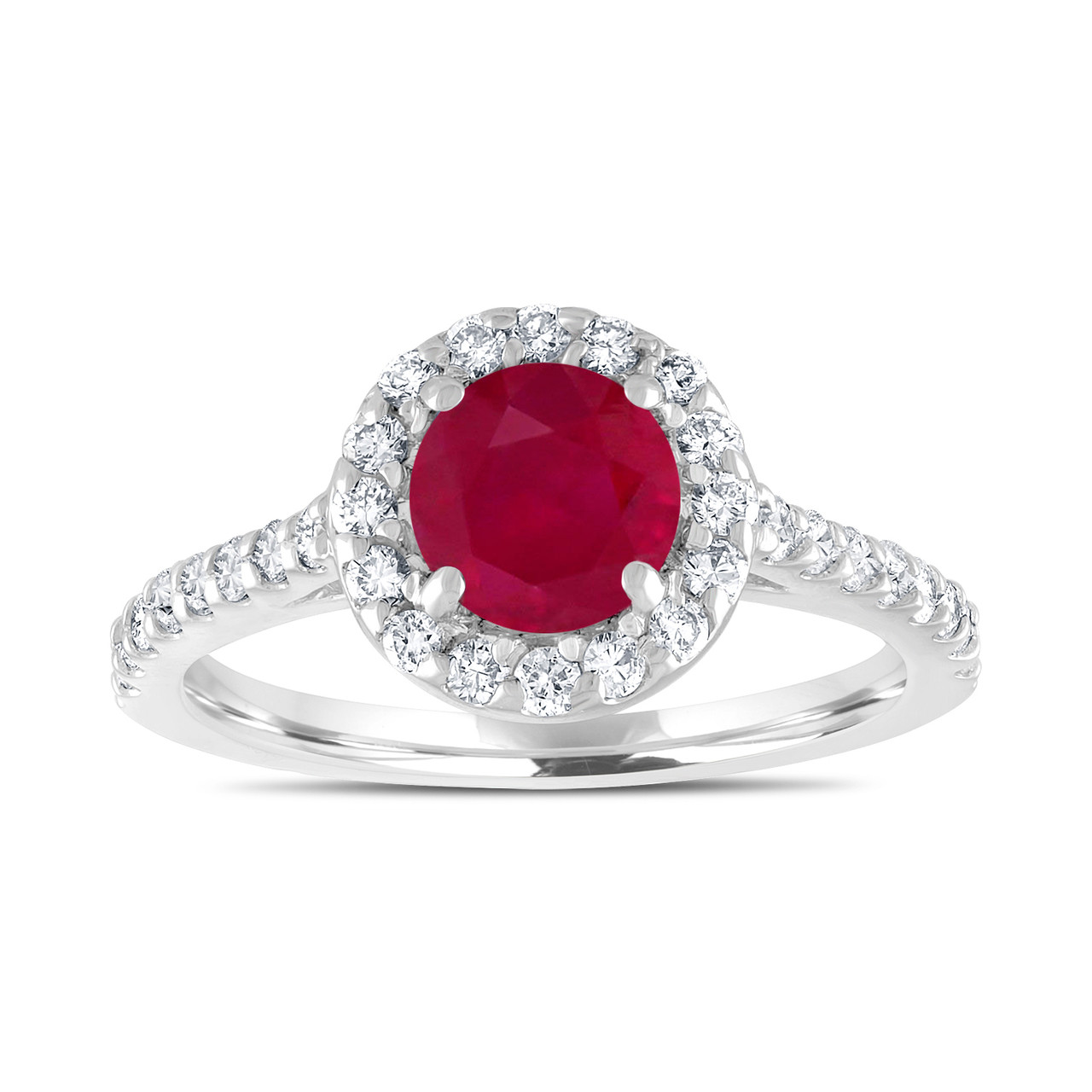 ruby wedding ring 1 54 carat ruby engagement ring with diamonds bridal ring 7179