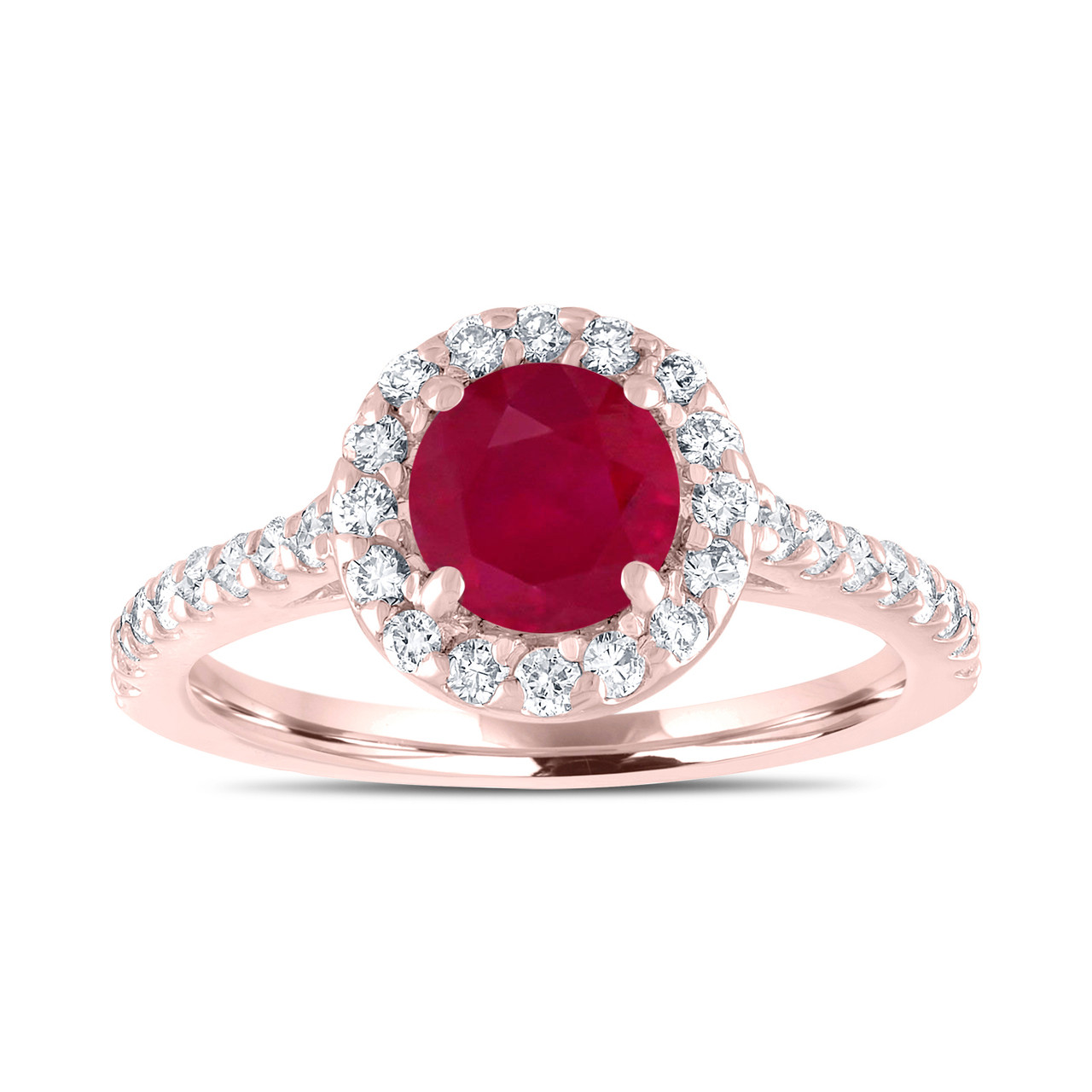 Ruby engagement ring with diamonds bridal ring red ruby wedding ruby engagement ring with diamonds bridal ring red ruby wedding ring 154 carat 14k rose gold certified halo pave handmade junglespirit Image collections