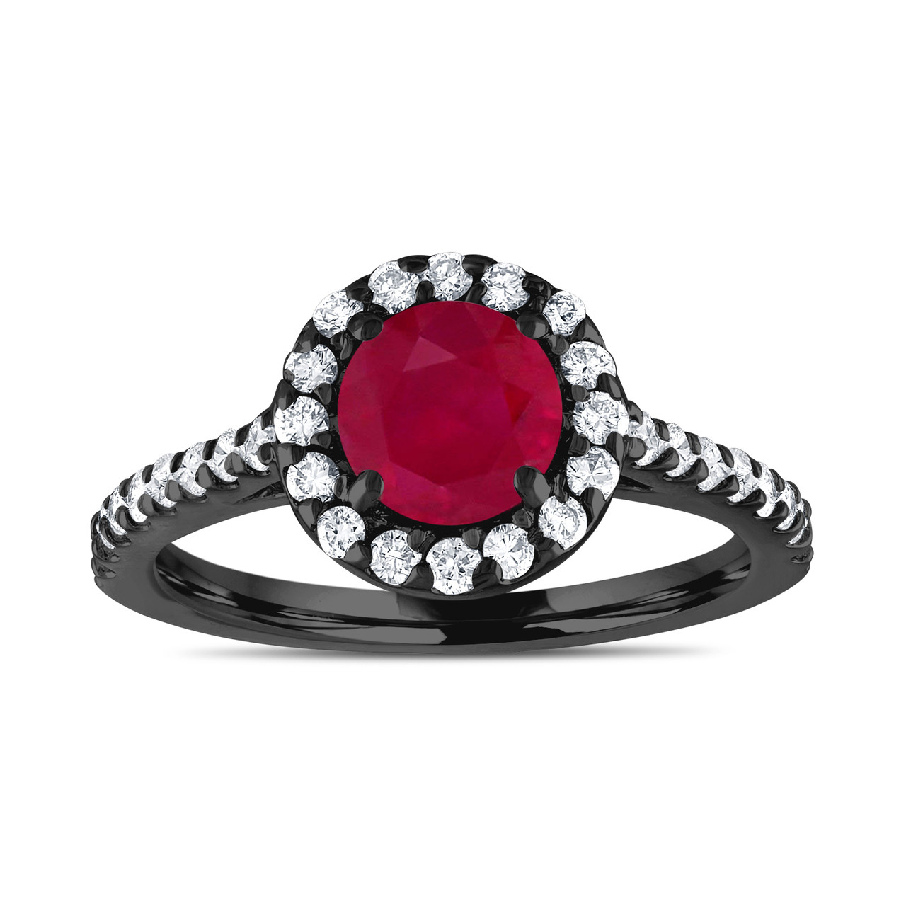 ruby wedding ring vintage ruby engagement ring with diamonds bridal ring 7179