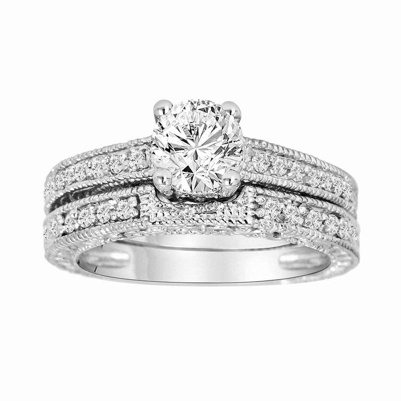 diamond engagement ring set bridal rings set gia. Black Bedroom Furniture Sets. Home Design Ideas
