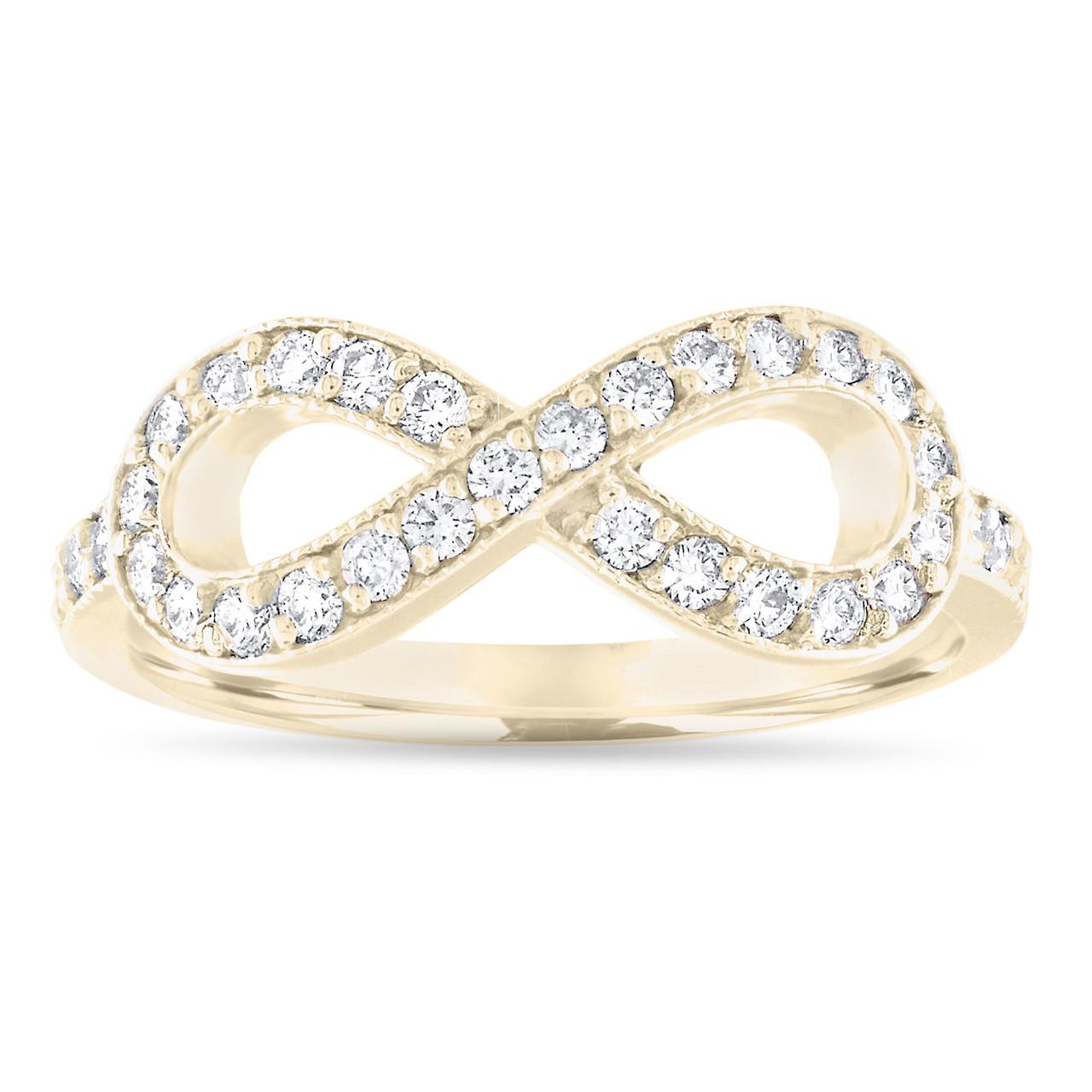 Antique Style 4 2mm Platinum Men S Wedding Band With: Diamond Infinity Wedding Band, Yellow Gold Wedding Ring
