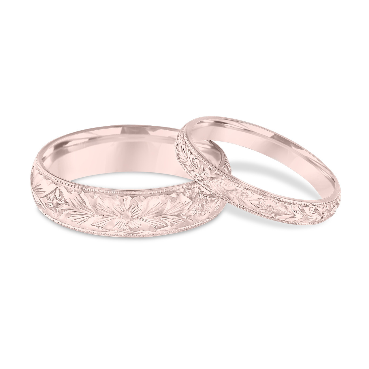 his and hers gold wedding rings his amp hers wedding bands engraved wedding bands 4809