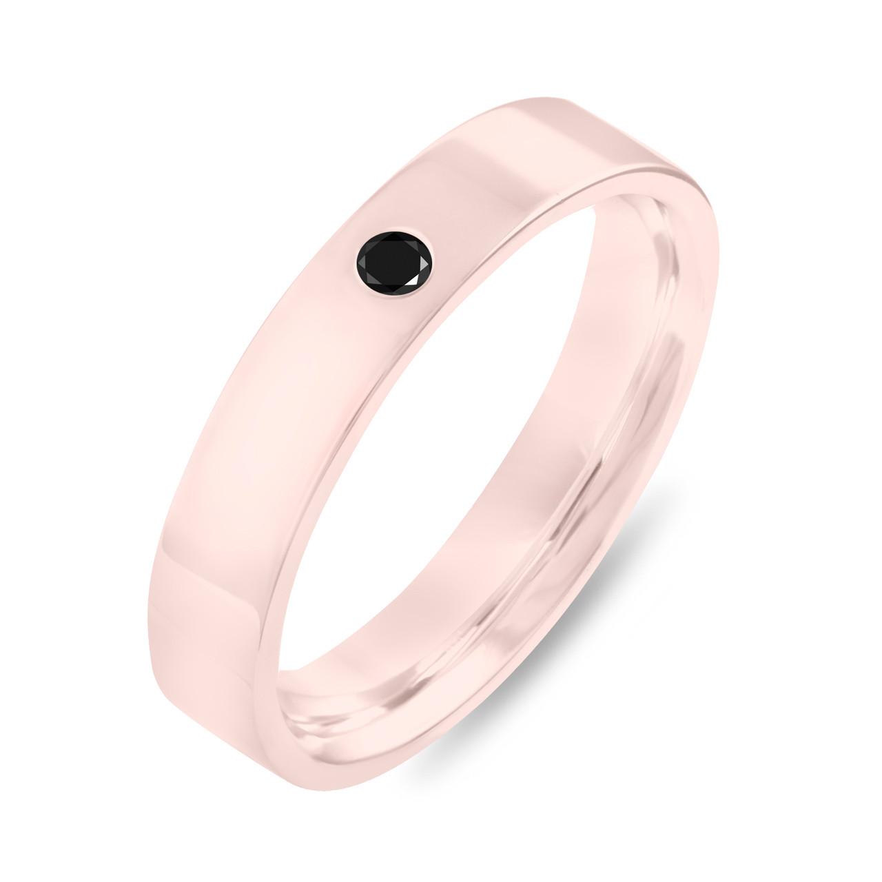 Black Diamond Wedding Ring Rose Gold, Diamonds Wedding Band, Womens ...